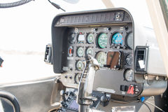 Helicopter Cockpit View. Control stick Royalty Free Stock Image
