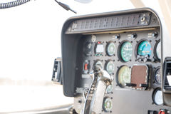 Helicopter Cockpit View. Control stick Royalty Free Stock Images
