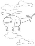 Helicopter coloring page Stock Photo