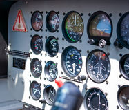 Helicopter command table. Close up Royalty Free Stock Photos