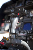 Helicopter control. Inside of a cockpit Royalty Free Stock Images