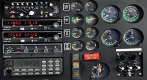 Helicopter control panel. Close up of an helicopter control panel Royalty Free Stock Images