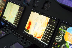 Helicopter control panel Royalty Free Stock Image