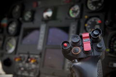 Helicopter control stick Stock Image