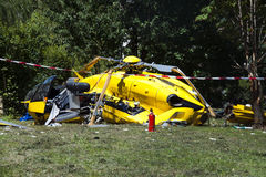 Helicopter crash Royalty Free Stock Images