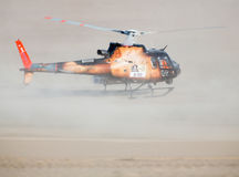 Helicopter at Dakar 2013 Royalty Free Stock Photos