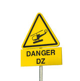Helicopter danger sign Royalty Free Stock Photos