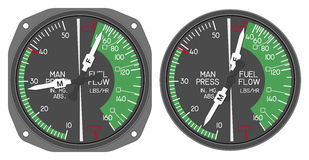Helicopter dashboard indicator royalty free stock image