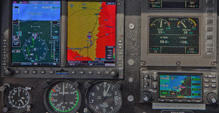 Helicopter Dashboard Royalty Free Stock Photos