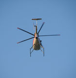 Helicopter departing Royalty Free Stock Photography