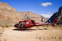 Helicopter desert Royalty Free Stock Photos