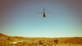 Helicopter in the Desert Stock Images