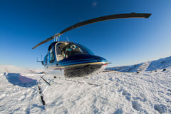 Helicopter on the Drakensburg Stock Photos