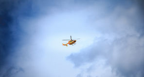Helicopter EC 135 of the Civil Security Royalty Free Stock Photo