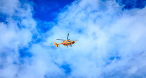 Helicopter EC 135 of the Civil Security Royalty Free Stock Photography