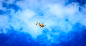 Helicopter EC 135 of the Civil Security Stock Photo