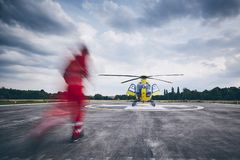 Helicopter emergency medical service stock photos