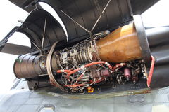 Helicopter engine Stock Photography