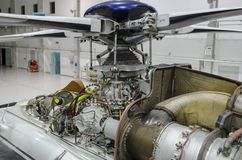 Free Helicopter Engine Exposed For Maintenance In A Hangar Royalty Free Stock Images - 144689179