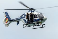 Helicopter Eurocopter EC-135 royalty free stock images