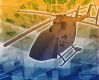 Helicopter evac Abstract concept digital illustration Stock Photo