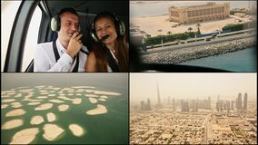 Helicopter excursion over Dubai. 2014 year. United Arab Emirates. Helicopter excursion over Dubai. 2014 year. United Arab Emirates stock footage