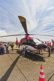 Helicopter exhibited at Banding Air Show 2017. royalty free stock images
