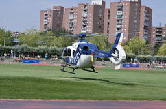 Helicopter exhibition of spanish police Stock Photography