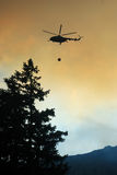 Helicopter extinguish fire Stock Image