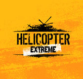 Helicopter Extreme Ride Creative Vector Banner Concept On Grunge Background Royalty Free Stock Images