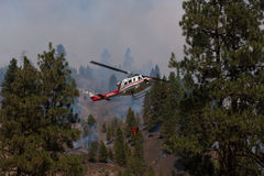 Helicopter Fighting Forest Fire Stock Photos