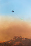 Helicopter Firefighters Fighting a Fire Stock Photo