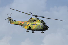 Helicopter in Flight. At Romanian Air Force Parade Stock Images