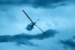 Helicopter in flight Royalty Free Stock Photos