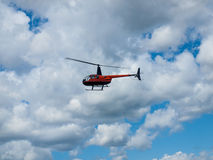 A Helicopter in Flight Royalty Free Stock Photos