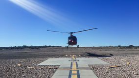 Helicopter flight Royalty Free Stock Images