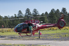 Helicopter flight leaving for the Grand Canyon Royalty Free Stock Images