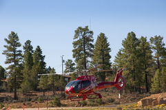 Helicopter flight leaving for the Grand Canyon Stock Image