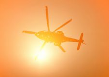 Helicopter in flight Royalty Free Stock Photo