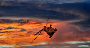 Helicopter in flight Stock Photos