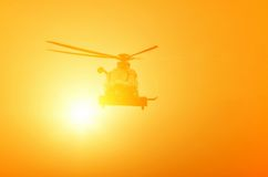 Helicopter in flight Stock Photography