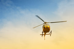 Helicopter in flight Royalty Free Stock Image