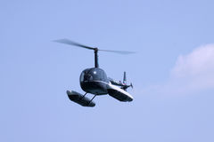 Helicopter with floats Stock Image