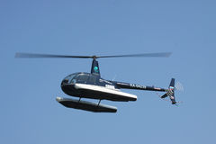 Helicopter with floats Royalty Free Stock Photography
