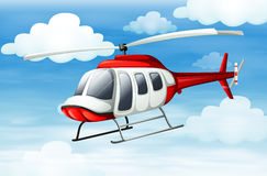 A helicopter flying Royalty Free Stock Photo