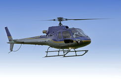 Helicopter flying on mission royalty free stock photography