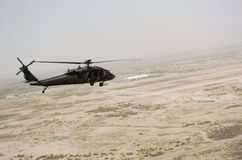 Helicopter flying over Iraq Royalty Free Stock Images