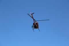 Helicopter flying Stock Photo