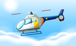 A helicopter flying in the sky Royalty Free Stock Photos