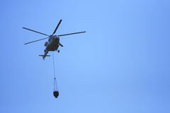 Helicopter Flying Water Royalty Free Stock Photography